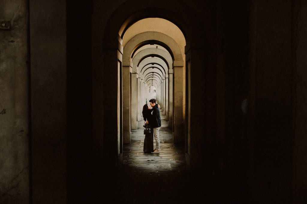 florence photos couple reportage engagement sunrise intimate